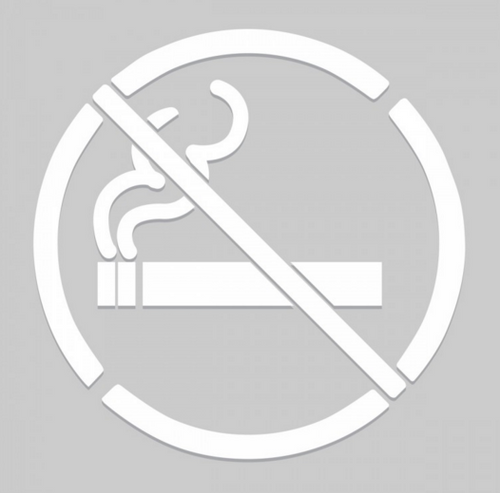 Accuform No Smoking Pictorial - Floor Marking Stencils. Shop now!