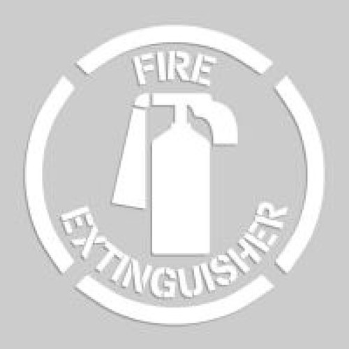 Accuform PMS214 Fire Extinguisher Sign - Floor Marking Stencils. Shop now!