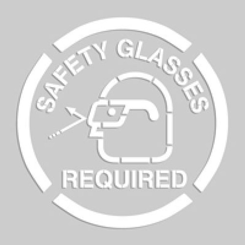 Accuform PMS225 Safety Glasses Required - Floor Marking Stencils. Shop now!