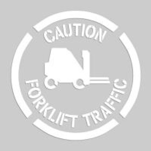 Accuform PMS209 Caution Forklift Traffic - Floor Marking Stencils. Shop now!