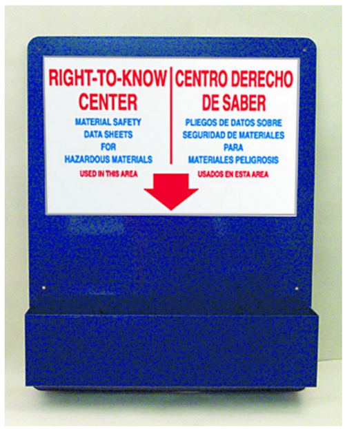 Accuform ZRS726 Bilingual Right To Know Center Board . Shop now!
