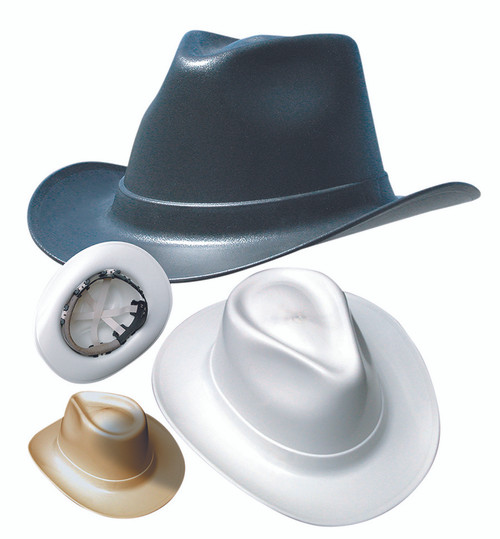 ON VCB200 Cowboy Style Hard Hat (Ratchet Suspension) with hard hat shell Made in USA available in Black, Gray, White and Tan color. Shop now!
