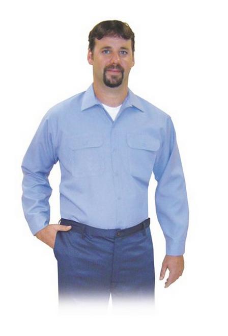 SteelGrip MBV6 9575 Button Front Medium Blue Vinex Shirt . Shop now!