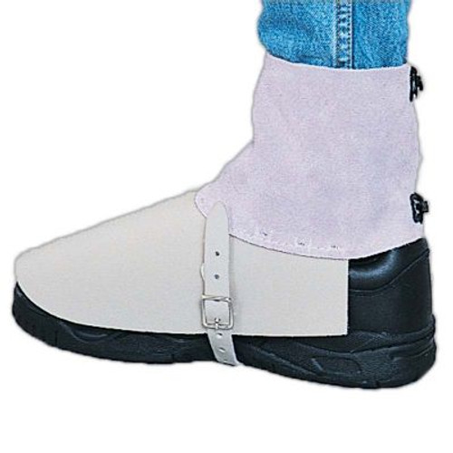 Steel Grip CL-374 7 in Pearl Grey Split Leather Spat with 6 in Flare