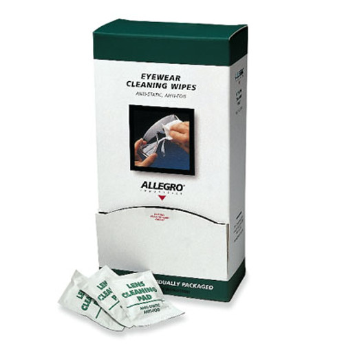 Allegro 0350 Eyewear Cleaning Wipes 100 per Box. Shop Now!