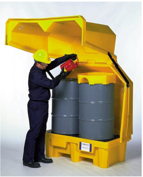 UltraTech 1083 2 Drum Ultra Hard Top P2 Outdoor Containment Storage w/ Drain. Shop now!