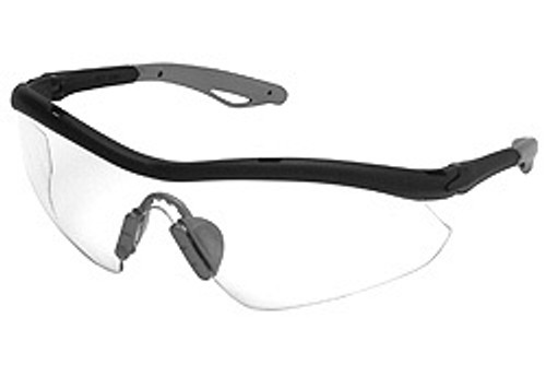 Hombre HB110 black frame, clear lens, silver nose and temple sleeve. Shop now!