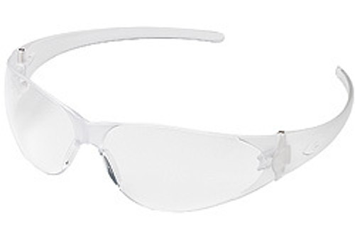 Checkmate polycarbonate frame, clear uncoated lens