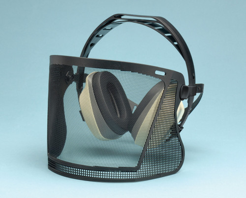 Elvex HB-7000 BrushGuard Muffs with Nylon Mesh Visor. Shop Now!