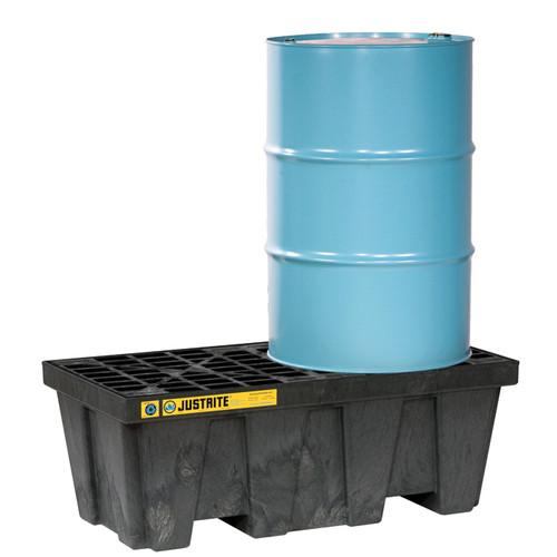 Justrite 28623 EcoPolyBlend 2 Drum Black Spill Control Pallet. Shop now!