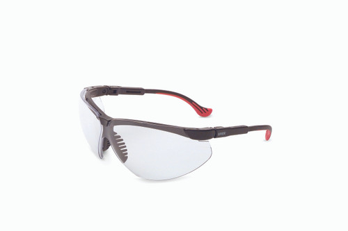 Uvex Genesis XC Safety Glasses. Available in Black Frame, Clear Ultra-dura Lens. Shop Now!