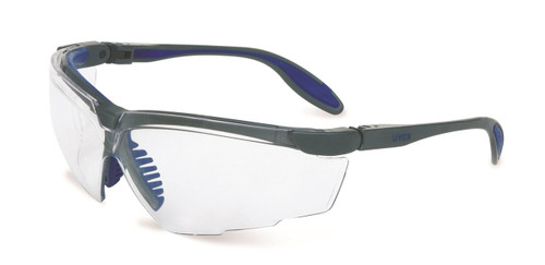 Uvex Genesis X2 Safety Glasses. Available in ilver & Navy Frame, SCT-Reflect 50 Ultra-dura Lens. Shop Now!