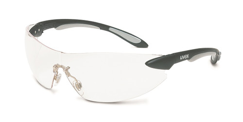 Uvex Ignite Safety Glasses. Available in Black and Silver Frame, Clear Hardcoat Lens. Shop Now!
