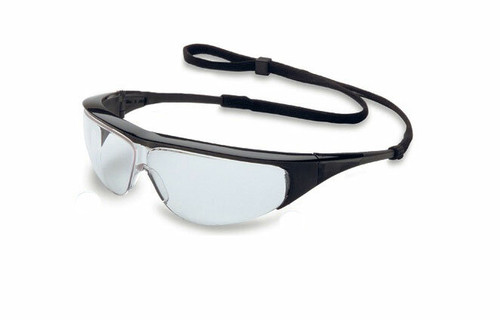 Uvex Millennia Safety Glasses. Available in Black Frame, Clear Ultra-dura Lens. Shop Now!