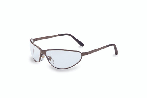 Uvex Tomcat Safety Eyewear. Available in Gunmetal Frame, Clear Anti-scratch Lens. Shop Now!