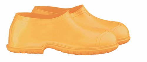 Onguard 88010 PVC 4 Inch Yellow Overshoe w/ 4-Way Cleated Outsole