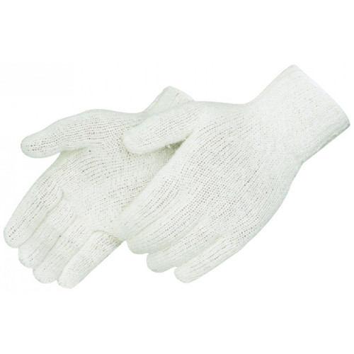 Natural White Medium Weight String Knit Gloves. Shop Now!
