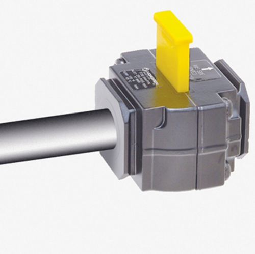 Accuform KDD463 3/8 Inch In Line Pneumatic Valve Lockouts