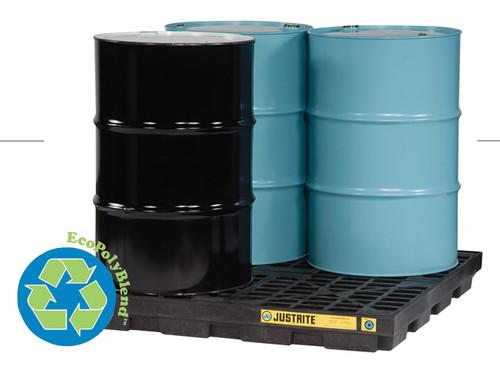 Justrite 28656 EcoPolyBlend 4-Drum Black Accumulation Center. Shop now!