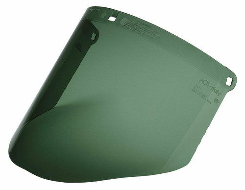 3M 82702-00000 WP96C Dark Green Polycarbonate Faceshield. Shop now!