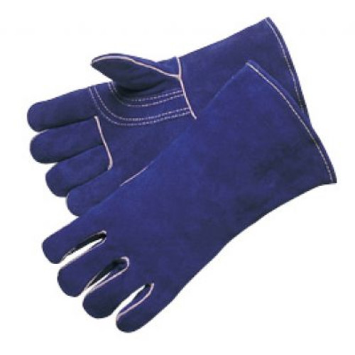 Welding Glove Premium Blue Leather. Shop Now!