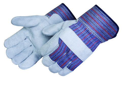 Grey Double Leather Palm Gloves. Shop Now!