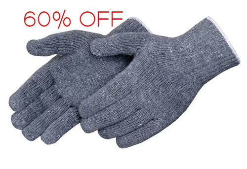 Grey Medium Weight String Knit Gloves. Shop Now!