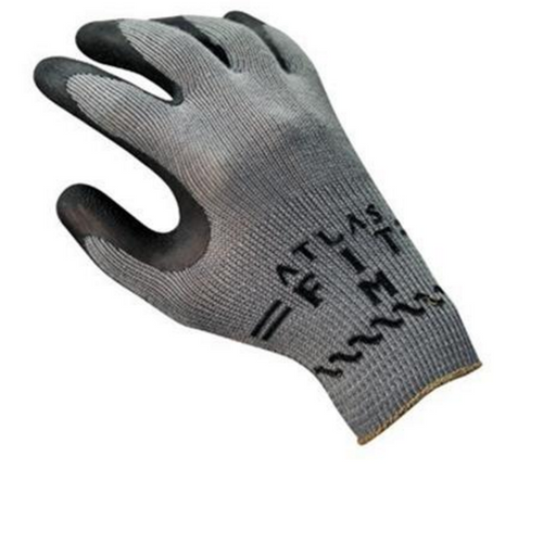 Showa Atlas Fit Flat Dipped Natural Rubber Gloves - Gray. Shop now!