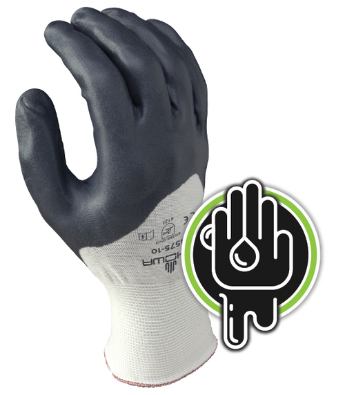 Showa 4575 Zorb-IT Extra Nitrile Coated Gloves