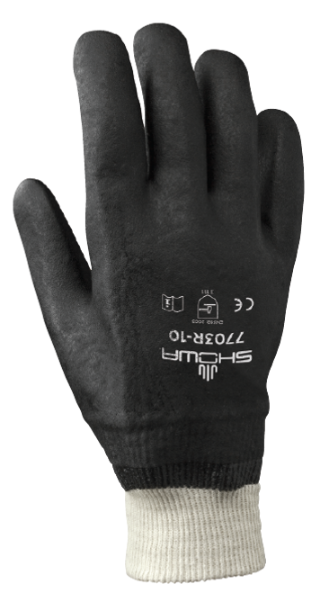 Showa 7703R-10 Black Knight Chemical Resistant Gloves. Shop Now!