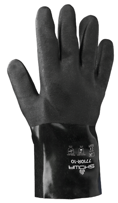 Showa 7710R-10 Black Knight Chemical Resistant Gloves. Shop Now!