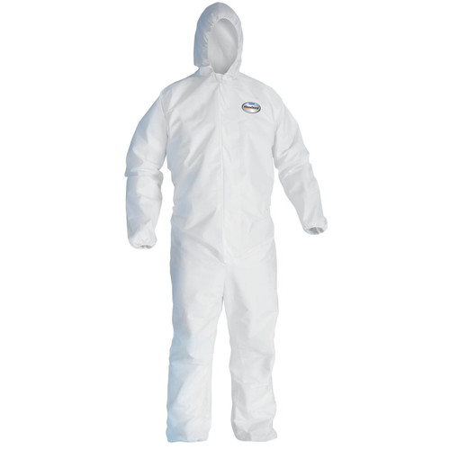 KleenGuard A30 Hooded Breathable Protection Coveralls - 25 Each