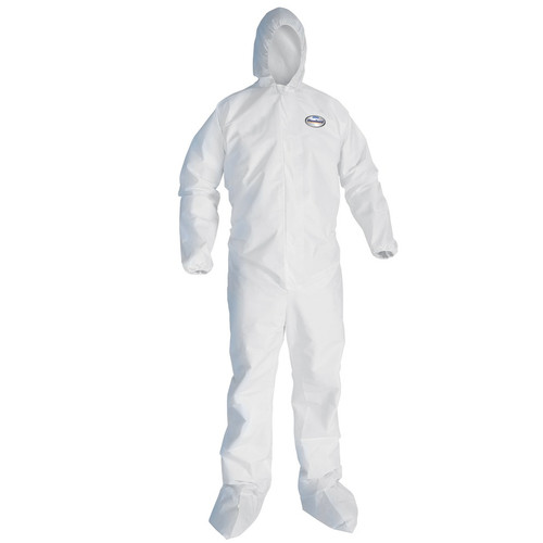 KleenGuard A30 Hooded and Booted Breathable Protection Coveralls - 25 Each