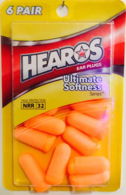 HEAROS 5414 6-pair Disposable Earplugs. Shop Now!