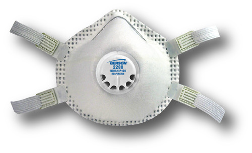 Gerson 2280 P100 Particulate Respirator w/ Valve,Full Gasket & Adjustable Straps  with Gerson Category Number 082280. Shop now!