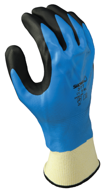 General purpose full nitrile blue undercoating w/black foamed palm coating, 13 gauge, seamless knitted liner. Shop Now!