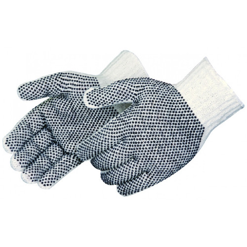 String Knit Gloves 2 Side PVC Dotted. Shop Now!