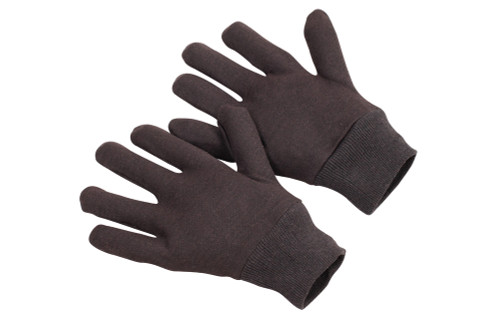 Reversible Brown Jersey Work Gloves. Shop Now!