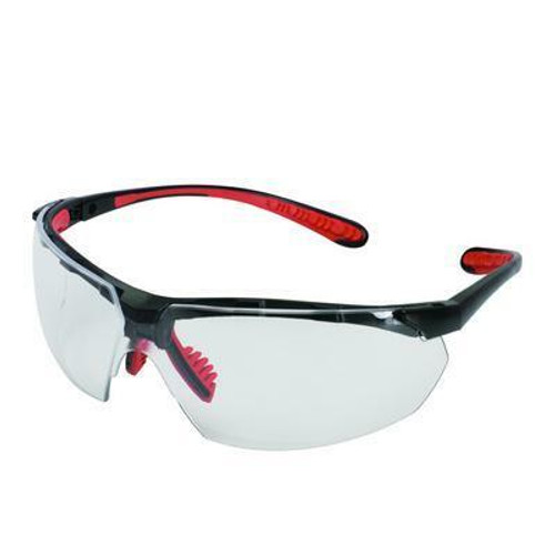 38499 Clear Anti-Fog Lens, Black Frame with Red Tips