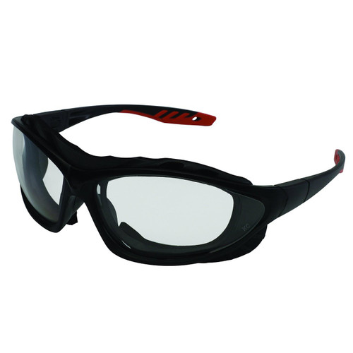 33345 Clear Anti-Fog Lens, Black Frame with Black and Red Temples