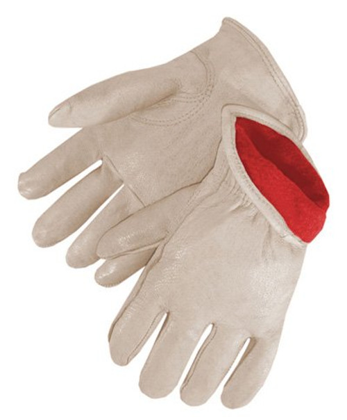 Pigskin Driver Gloves Red Fleece Lined Premium Grain. Shop Now!