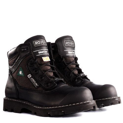 Royer 10-8400 Black FLX Rubber Sole Waterproof Leather Metal-Free Boot. Shop now!