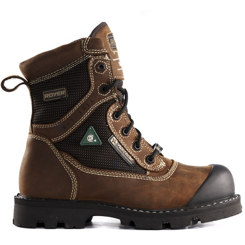 Royer 10-8620 Brown FLX Rubber Sole Waterproof Leather Metal-Free Boot. Shop now!