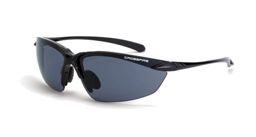 Crossfire Sniper Polarized Smoke Lens Shiny Black Frame. Shop Now!