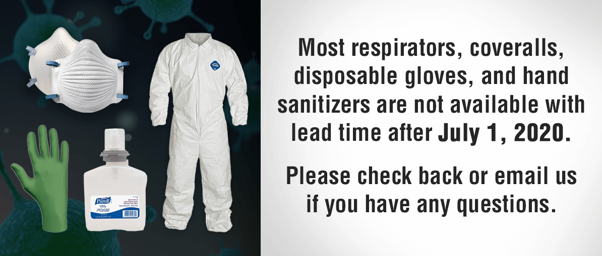 Due to limited supply of all respirator products, we are not accepting any orders for respirators at this time.  Please check back after July 1, 2020.  Thank you for your understanding.