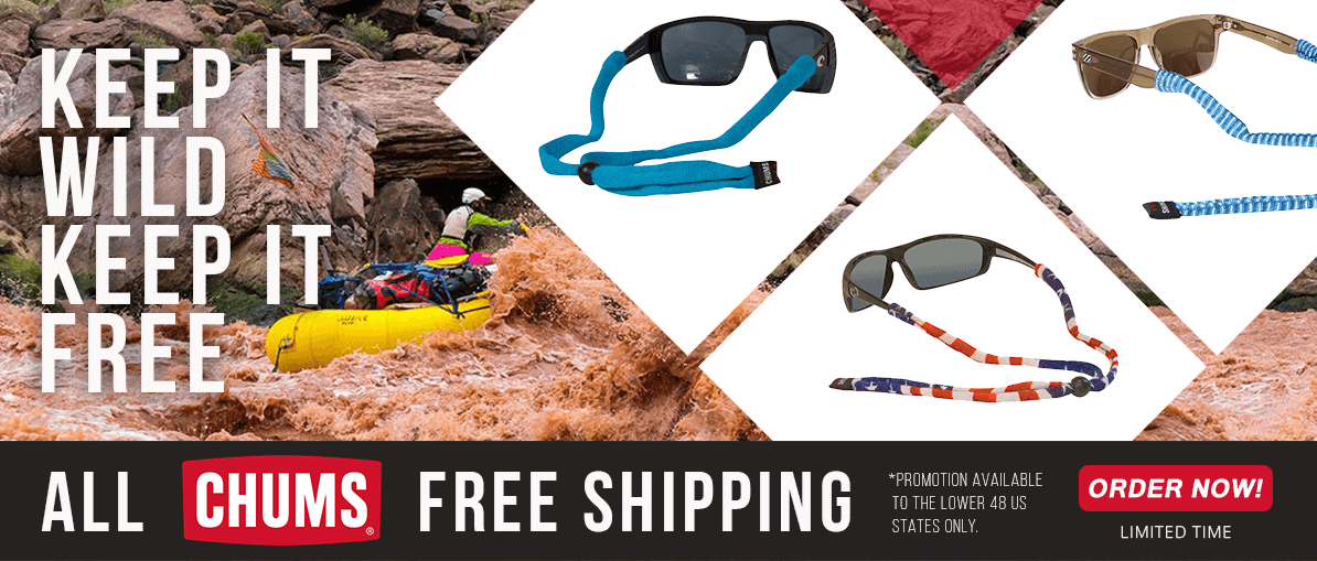 FREE SHIPPING on Chums Product.  Get Yours Today and Save!