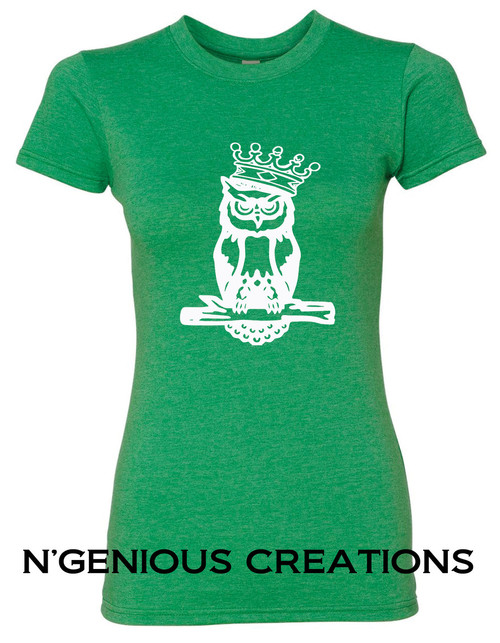 N'GENIOUS CREATIONS WOMEN'S OWL SIGNATURE TEE
