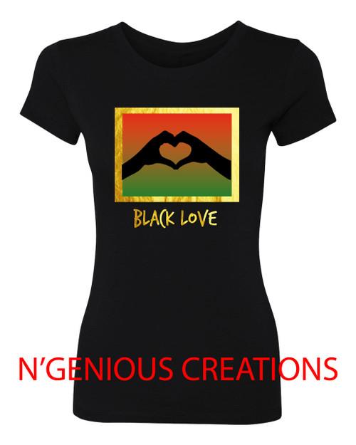 BLACK LOVE WOMEN'S TSHIRT