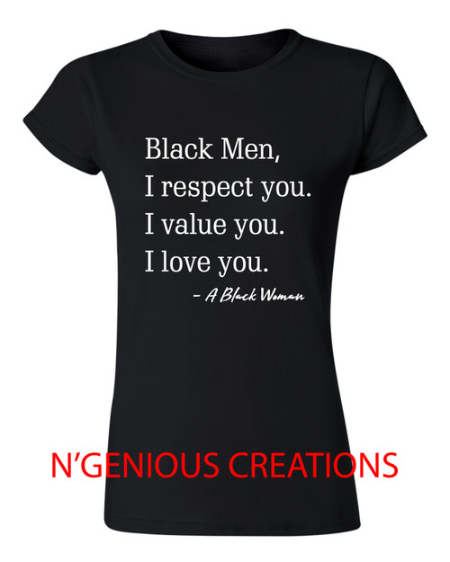 DEAR BLACK MEN WOMEN'S TSHIRT