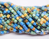 6/0 Aged Denim Turquoise Medley Picasso Bugle Mix (1/4 Kilo)